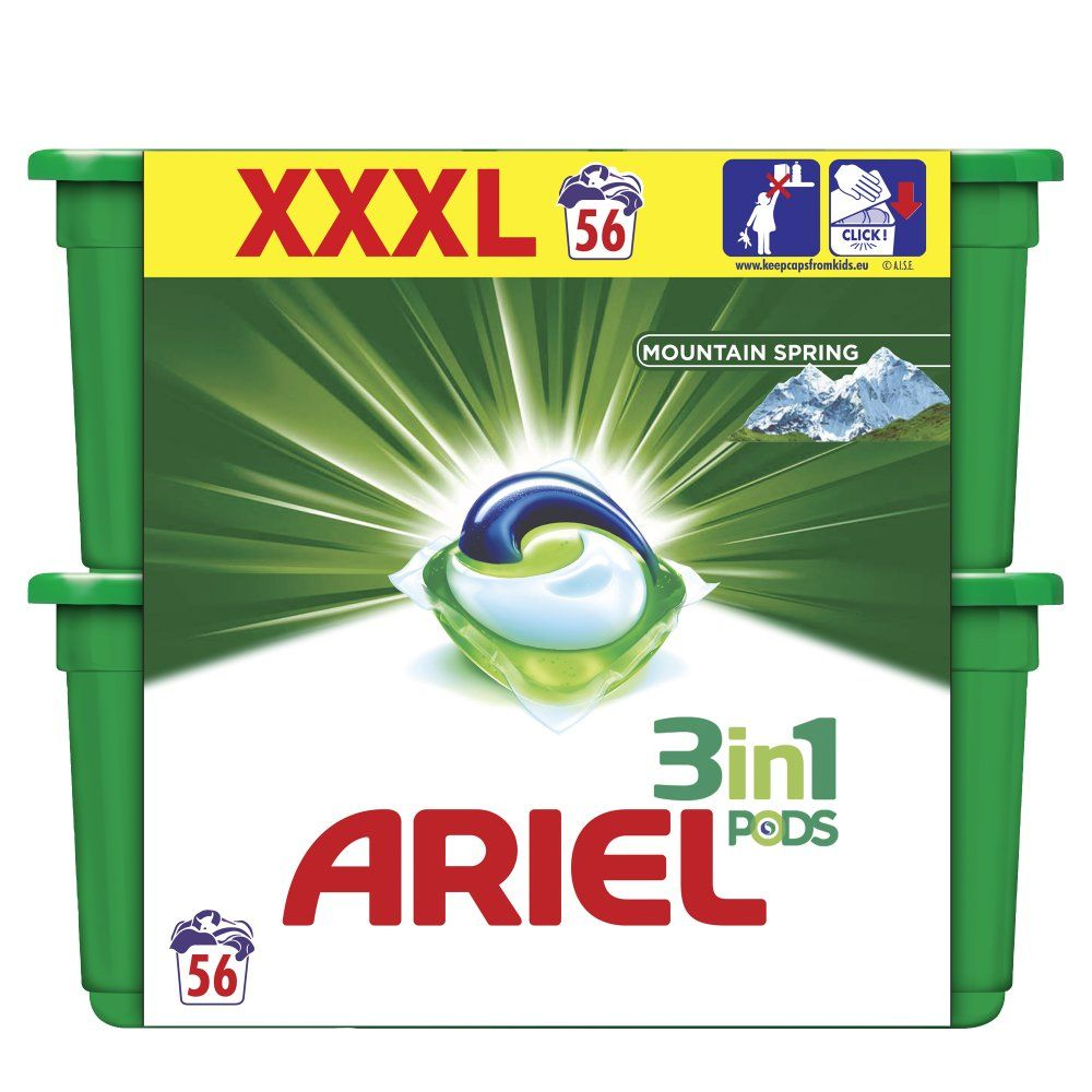 Tablety na praní Ariel active gel regula- 56 tablet